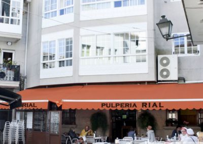 Pulpería Rial's terrace in the town square