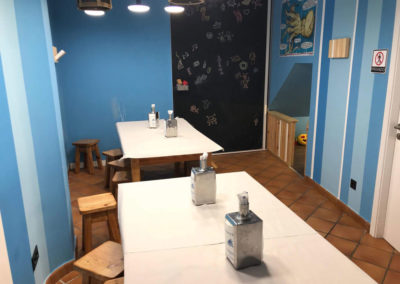 New dining room with a playground area for children